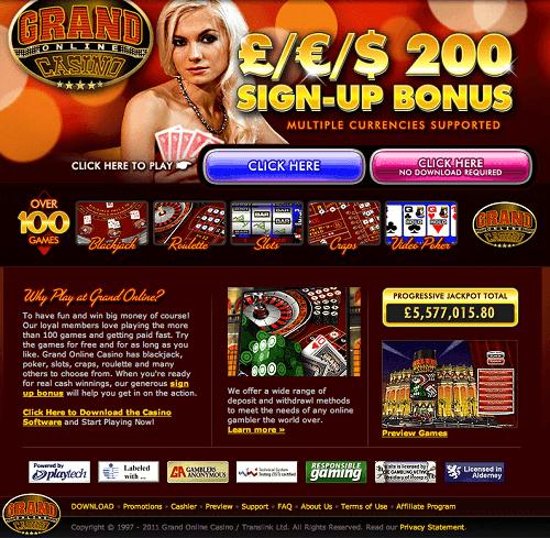 Grand Casino Games Online